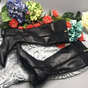 Gucci Boots black leather and fabric